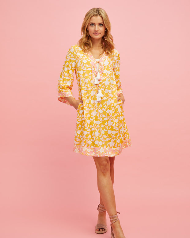 Tunic Nursing Dress - Golden Yellow - Peachymama - 1