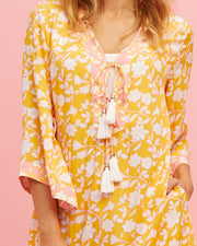 Tunic Nursing Dress - Golden Yellow - Peachymama - 3