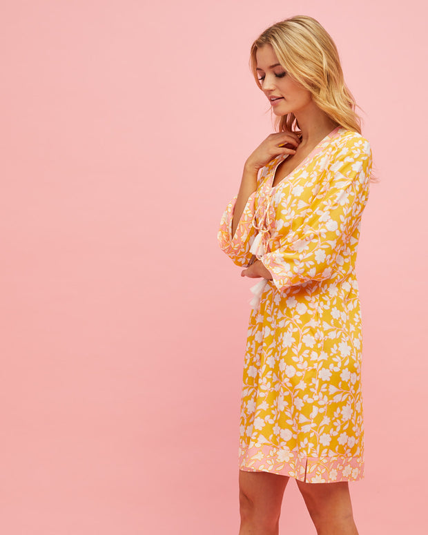 Tunic Nursing Dress - Golden Yellow - Peachymama - 5