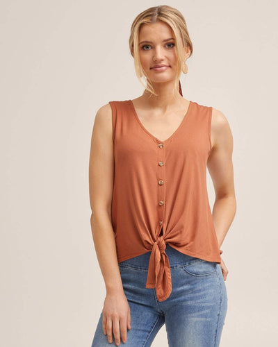 Tie Front Nursing Tank - Rust by Peachymama USA 1