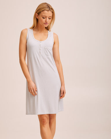 Tank Nightie - Blue Stripe