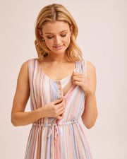 Beach Stripe Nursing Dress