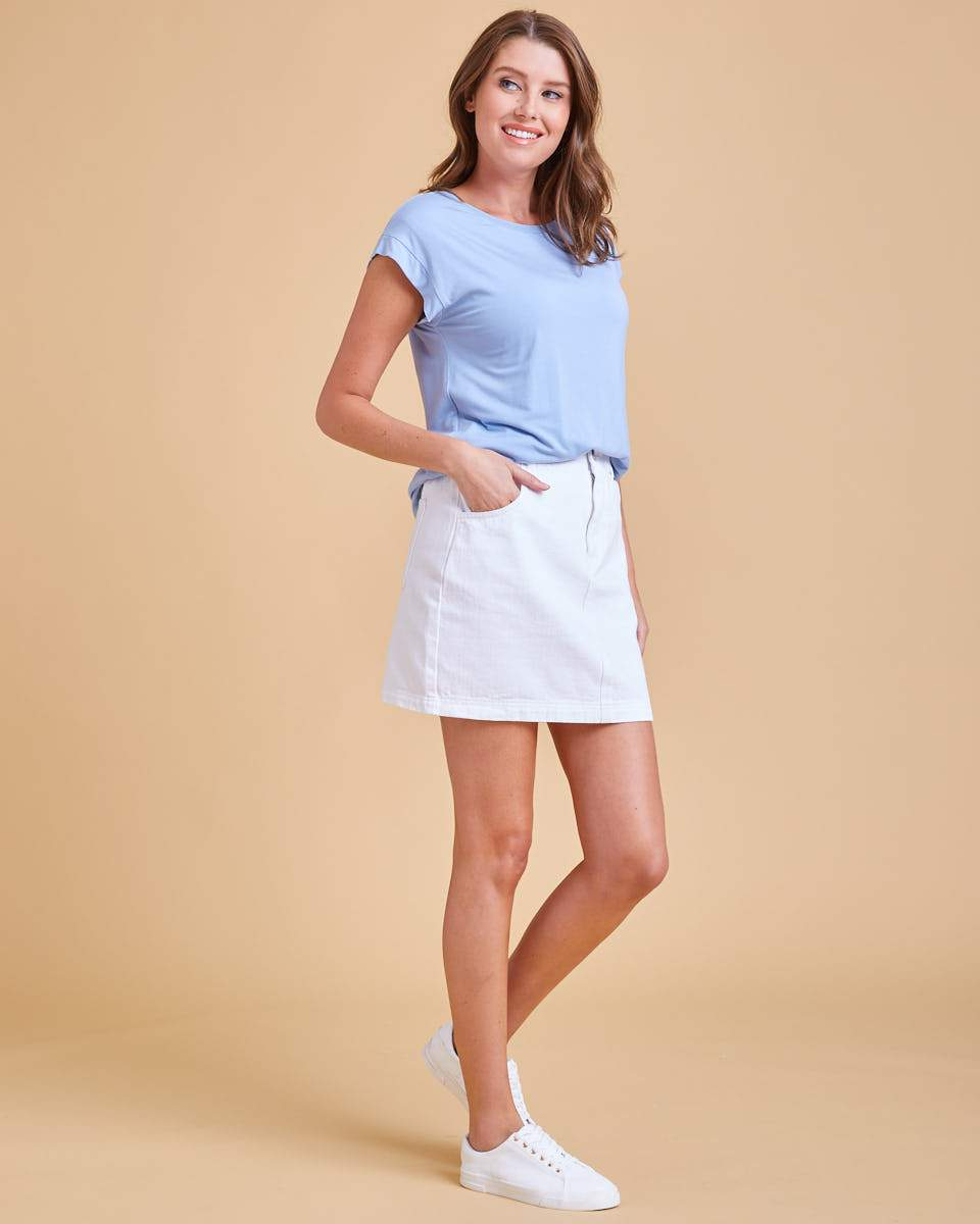 Rise Nursing Top - Seafoam Blue