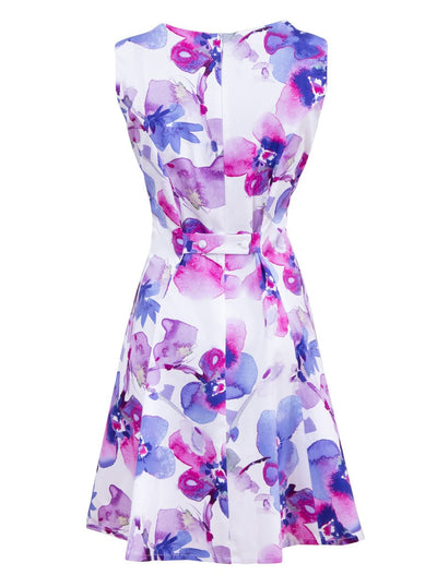 Purple Orchid Pinafore nursing dress - Back