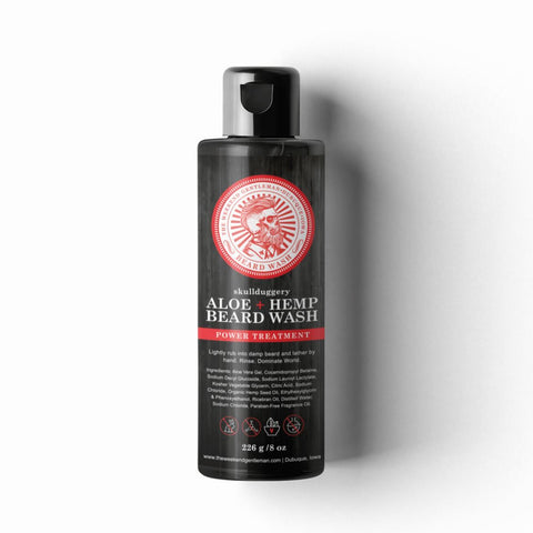 Aloe + Hemp Beard Wash Skullduggery Grooming Co.