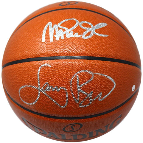Magic Johnson & Larry Bird<br>Original signierter NBA I/O Basketball