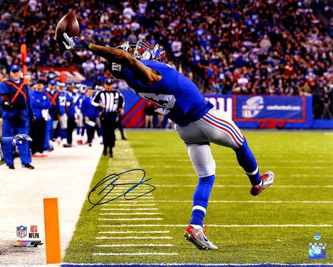 Odell Beckham Jr. <br>New York Giants <br>Original signiertes Foto <br>50 x 40 cm