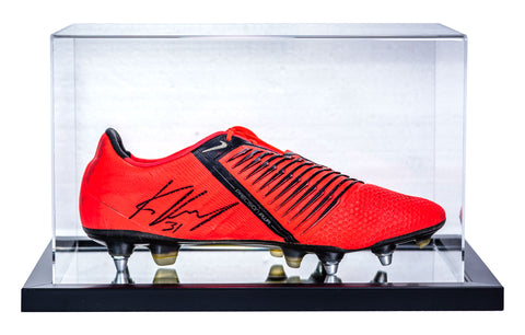 "Kevin Volland <br>Bayer Leverkusen <br>""GAME USED"" <br>Original signierter Schuh im Acryl Display"