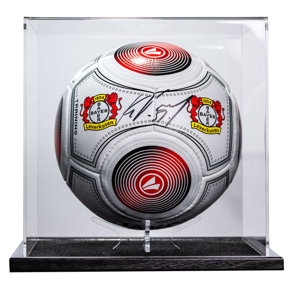 Kevin Volland <br>Bayer Leverkusen <br>Original signierter Fan Ball in Acryl Display