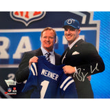 "Björn Werner<br>Indianapolis Colts<br>Original signiertes Foto<br>""Draft Day""<br>20 x 25 cm"
