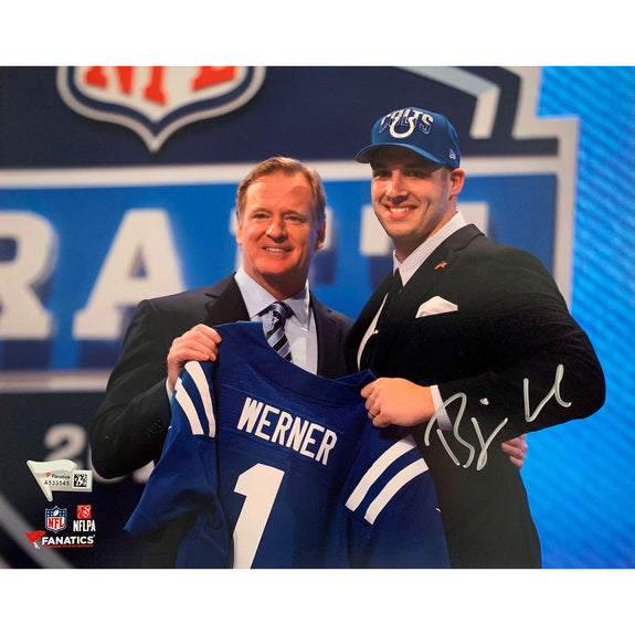 "Björn Werner <br>Indianapolis Colts <br>Original signiertes Foto <br>""Draft Day"" <br>20 x 25 cm"