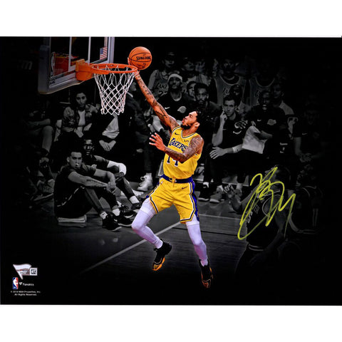 "Brandon Ingram <br>Los Angeles Lakers <br>""Spotlight"" <br>Original signiertes Foto <br>28 x 35 cm"