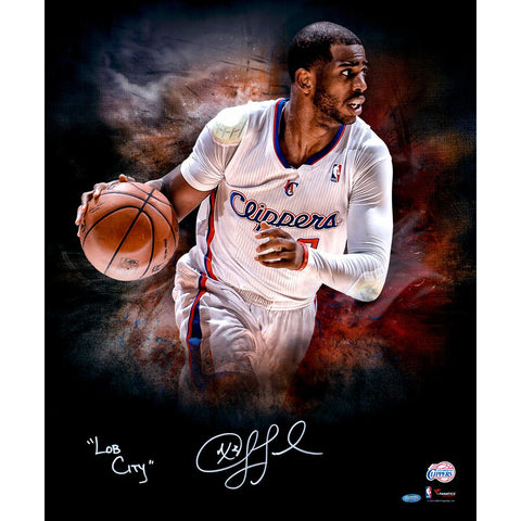 Chris Paul <br>Los Angeles Clippers <br>Original signiertes Foto <br>50 x 60 cm