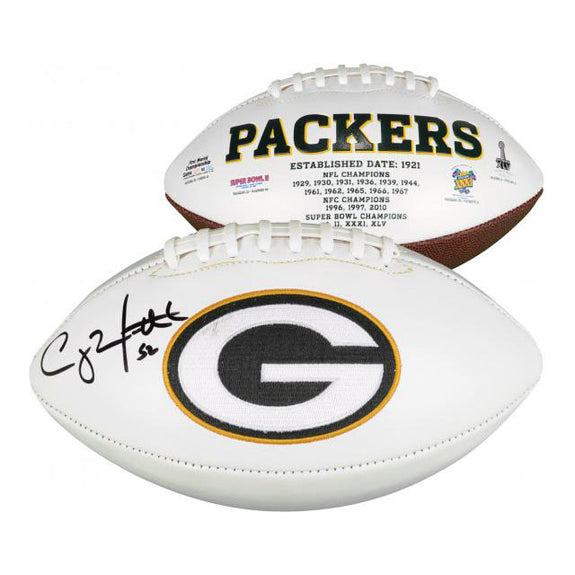 Clay Matthews <br>Signierter white panel Football <br>Green Bay Packers
