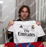 "Luka Modric <br>Real Madrid <br>Original signiertes Trikot 2018/19 <br>Sonderdruck ""Ballon d'Or 2018 Winner"""
