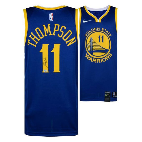 Klay Thompson <br>Golden State Warriors <br>Original signiertes Blue Nike Swingman Jersey