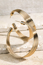 Load image into Gallery viewer, Gold Layered Hoop Earrings