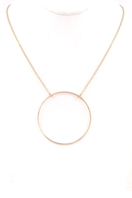 Metal Ring Pendant Necklace