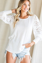 Load image into Gallery viewer, Ivory With Full Lace Sleeve