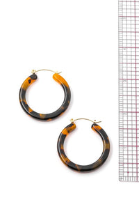 White Acetate Hoop Earrings