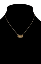 Load image into Gallery viewer, Oval Charm Necklace - Leopard