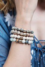 Load image into Gallery viewer, Natural Stone Bracelet - Howlite White
