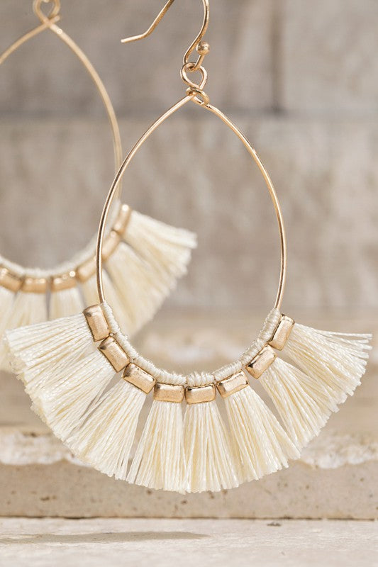 Ivory Tassle Earrings