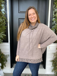 Mocha Cowl Neck Top