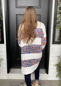 Multi Color Striped Cardi