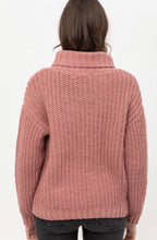 Load image into Gallery viewer, Mauve Cable Knit Sweater