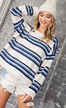 Load image into Gallery viewer, Snuggle In Striped Sweater