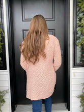 Load image into Gallery viewer, Dusty Pink Popcorn Cardigan