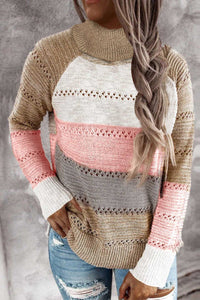 Pink Knitted Turtleneck