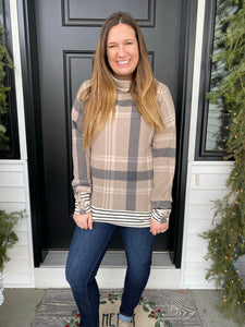 Cocoa Plaid Tunic