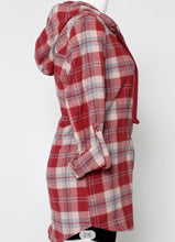 Load image into Gallery viewer, Auburn Flannel Hoodie