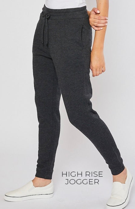 Charcoal High Rise Joggers