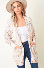 Load image into Gallery viewer, Confetti Knit Open Front Cardigan