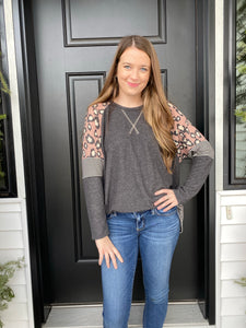 Leopard Pin Stripe Tunic