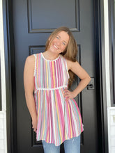 Load image into Gallery viewer, Rainbow Stripes Tank