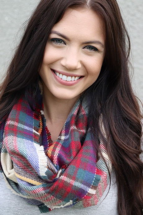 Classic Plaid Infinity Scarf