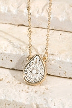 Load image into Gallery viewer, Silver/ Gold Teardrop Necklace