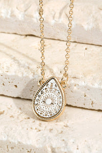 Silver/ Gold Teardrop Necklace
