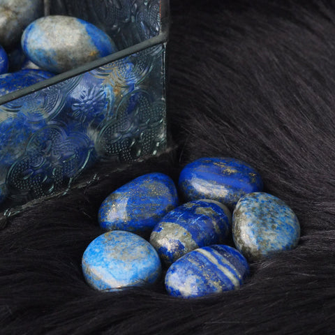 lapis lazuli tumbled stone (medium/large)