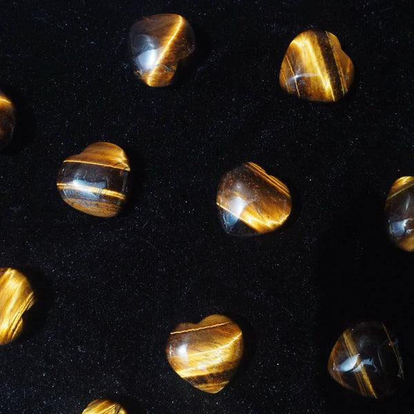 yellow tiger eye heart