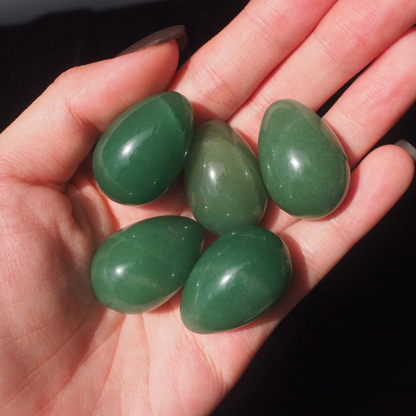 green aventurine mini egg