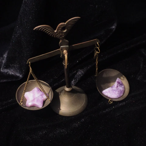 lepidolite star and moon