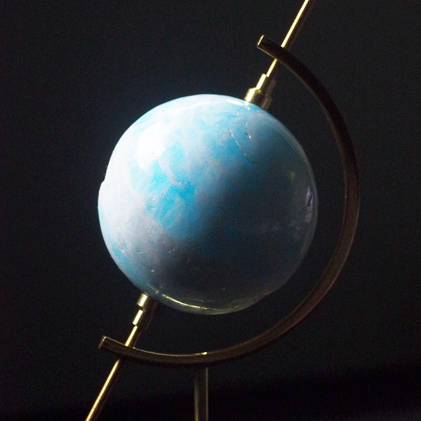 gold sphere globe stand (small/large)