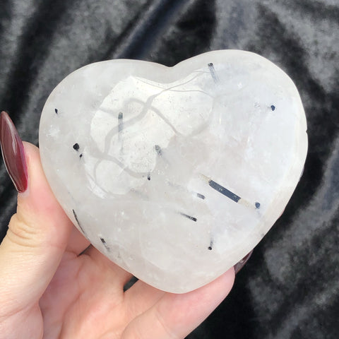 tourmalinated quartz heart A