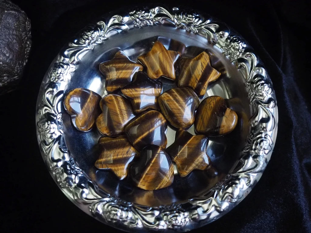 Tigers Eye Stars and Hearts