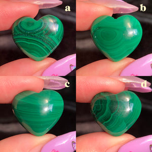 malachite hearts (A,B,C,D)